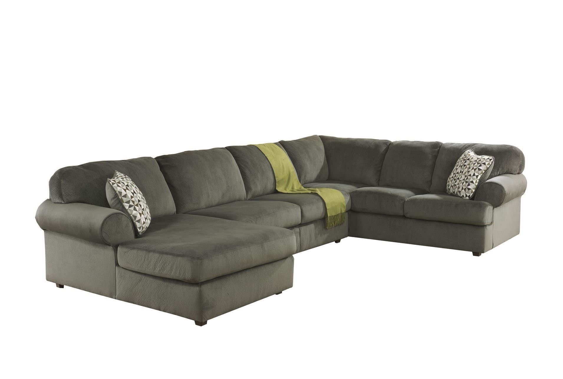 Jessa Place Pewter 3 Piece Sectional W Laf Chaise