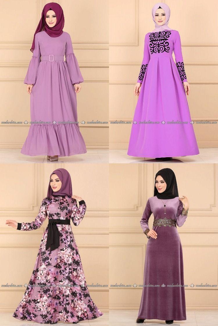 2020 Kis Modaselvim Lila Tesettur Elbise Modelleri Modaselvim Elbise Modelleri In 2020 Formal Dresses Long Dresses Fashion