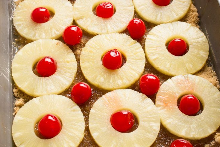 Easy Pineapple Upside Down Cake #cakebatter