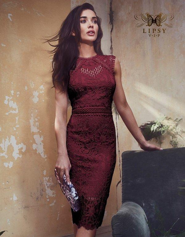 Lipsy Vip Lace Embroidered Midi Dress  4c1cebedb