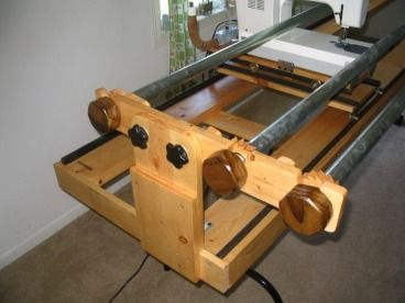 Plans To Build Your Own Quilt Frame For Your Home Sewing Machine