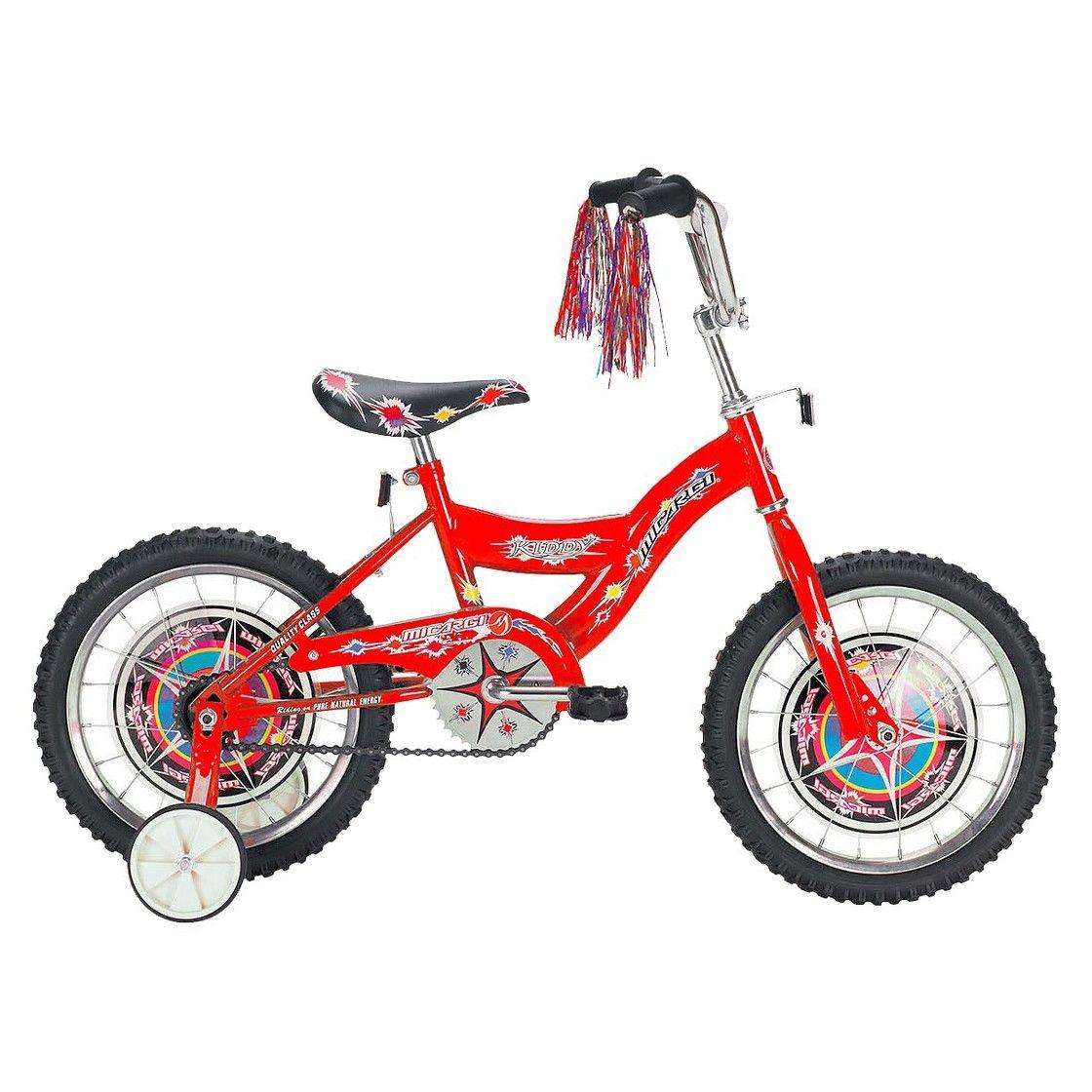 Micarge Kiddy Bmx bikes, Bike with training wheels, Bmx