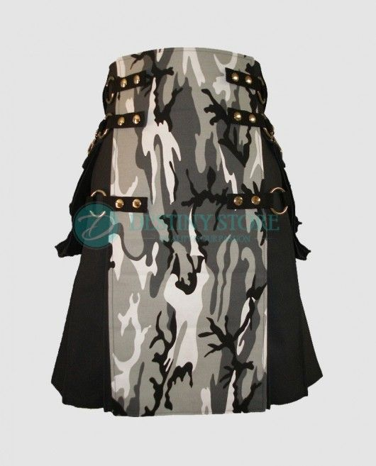 Black Urban Camo Prime Cargo Kilt    Ultra modern Black Urban Camo Kilt is for everyday use and formal wear. This Prime Cargo Kilt is Suited for the daily rough and tough job, working and hiking trails, it is made to stroll them all. This fashion kilt is more than a formal kilt.