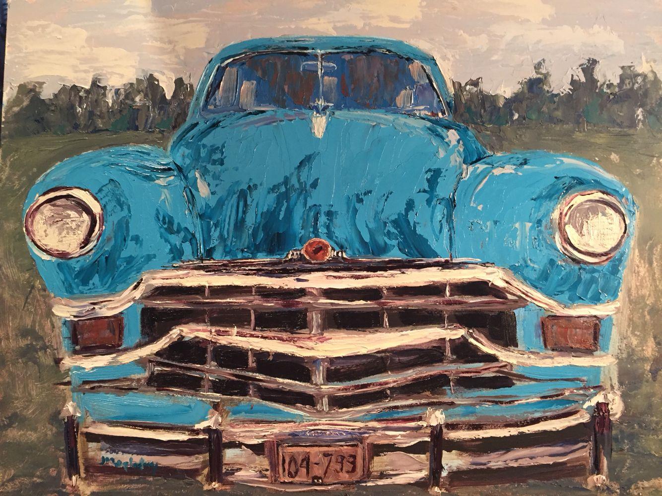 49Chrysler oil painting