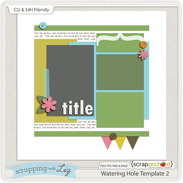Digital Scrapbook Blog - Template Tuesday: March 18th | Scrap Orchard