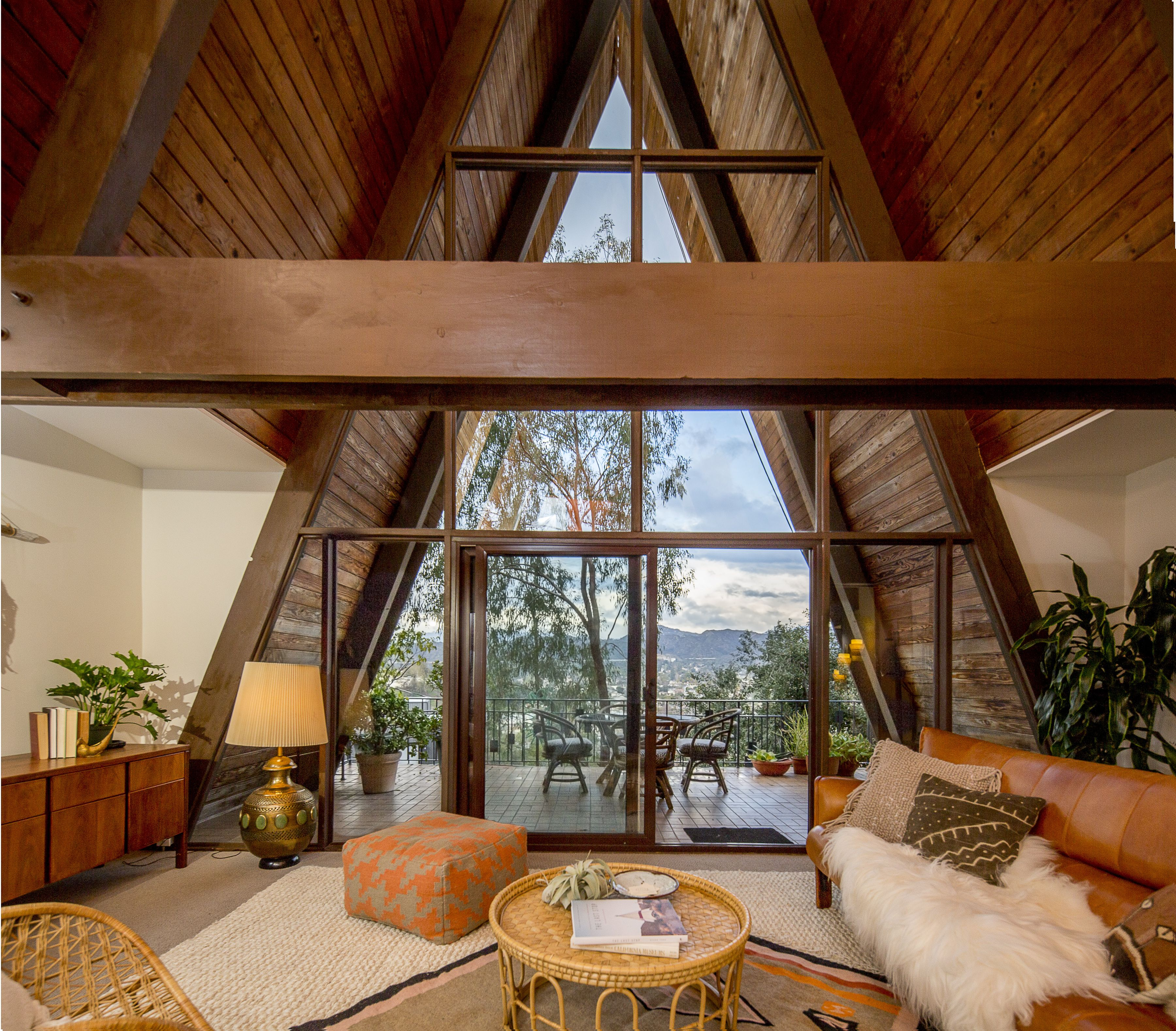 Architecturally Intriguing A Frame In Eagle Rock House And Home