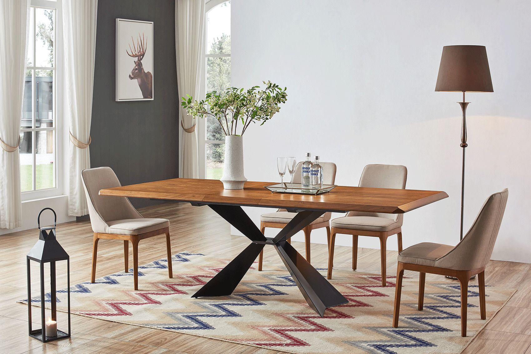 Coffee And Dark Brown Color Finished Dining Room Set The Dining Room Set Will Make Connection Modern Furniture Table Modern Dining Room Modern Dining Room Set