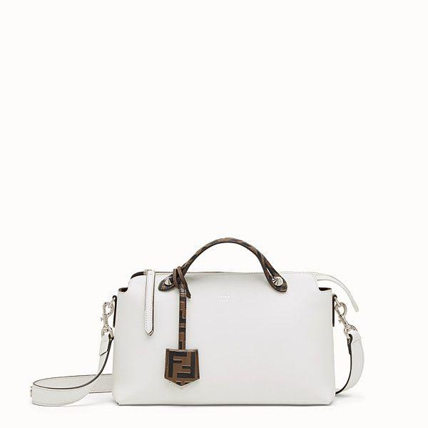 11f1b11d69e7 FENDI BY THE WAY REGULAR - White leather Boston bag - view 1 small thumbnail
