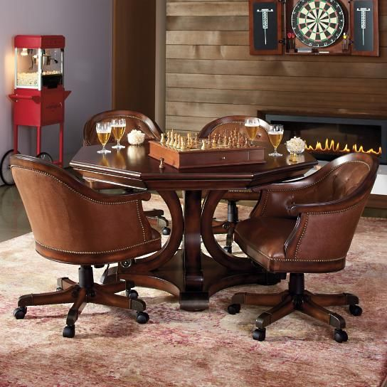 Edison Game Table And Set Of Four Chairs Game Table And Chairs
