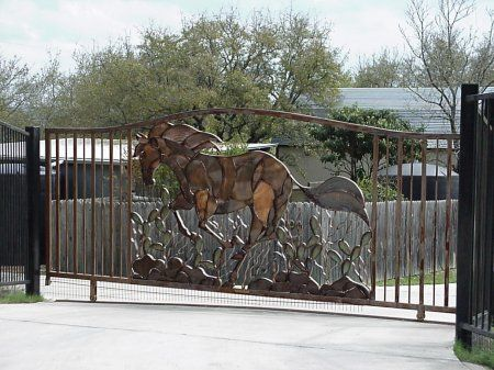 Wrought Iron Gate Art Horses Google Search Barn Ideas