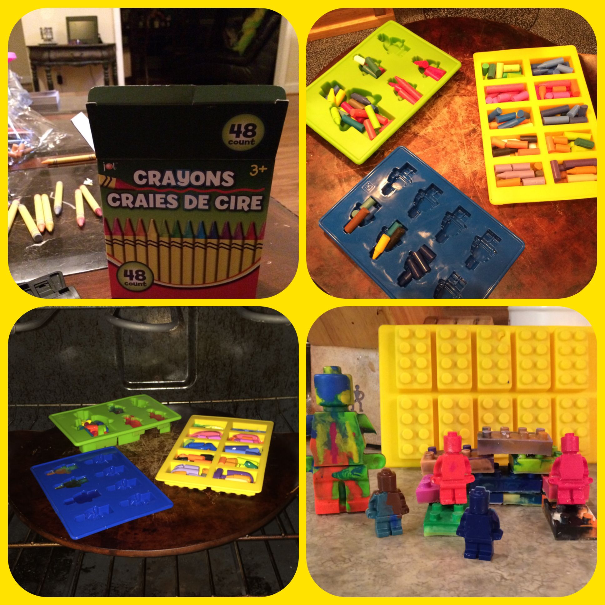 Kids love making your own crayons with silicone Lego molds. You can use the molds for ice cubes, jello, or gum miles. The Lego fun is endless