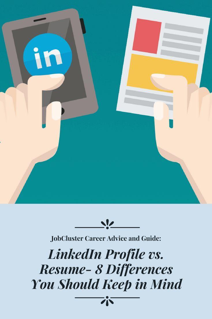 Profile For Resume Linkedin Profile Vsresume 8 Differences You Should Keep In Mind .