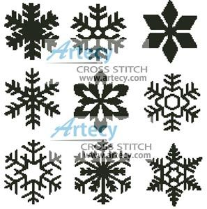 Snowflakes Cross Stitch Pattern http://www.artecyshop.com/index.php?main_page=product_info&cPath=41_42&products_id=773