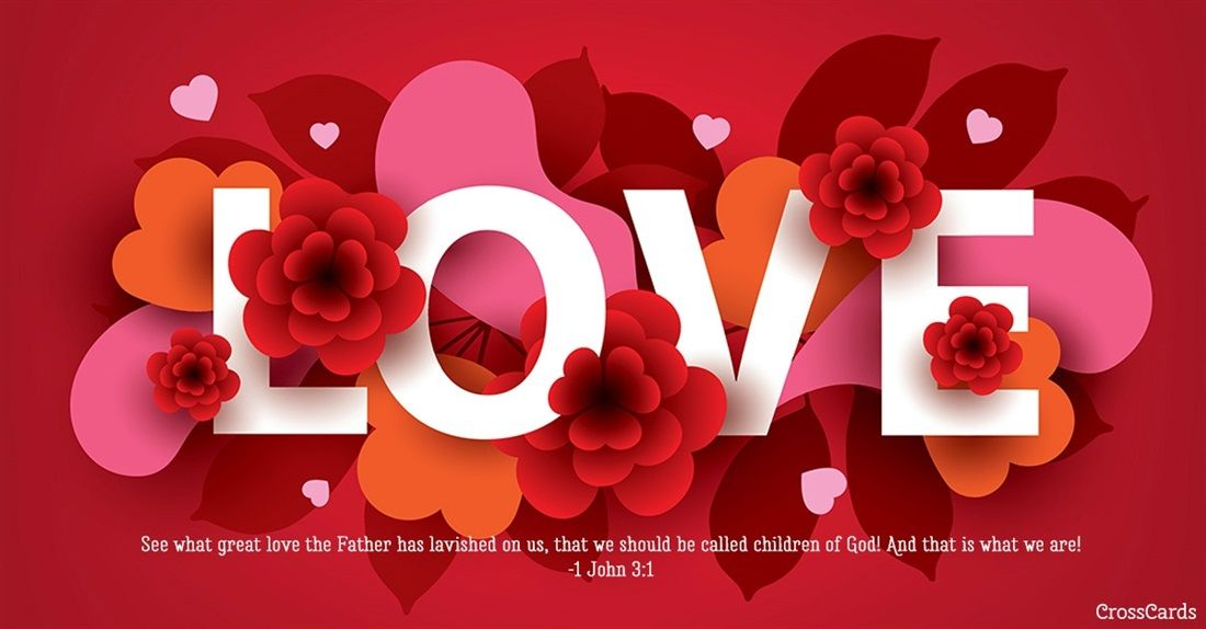 love  1 john 31  valentine's day greeting cards