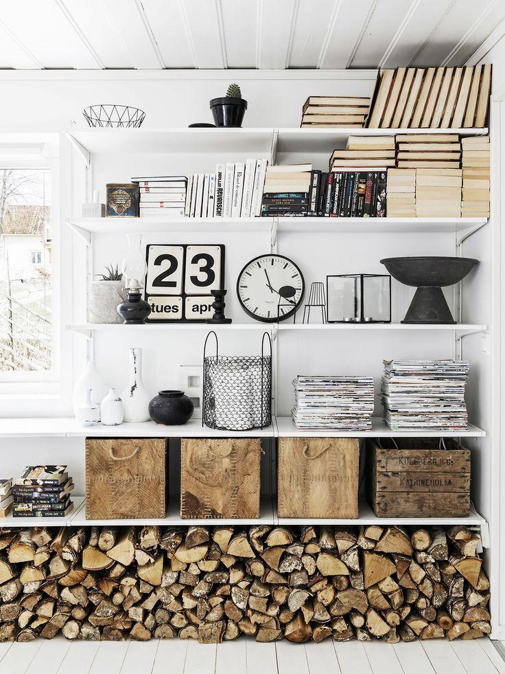 Scandinavian Style, Scandinavian Bookshelves, Scandinavian Interior Design,  Country Home Design, Country Home