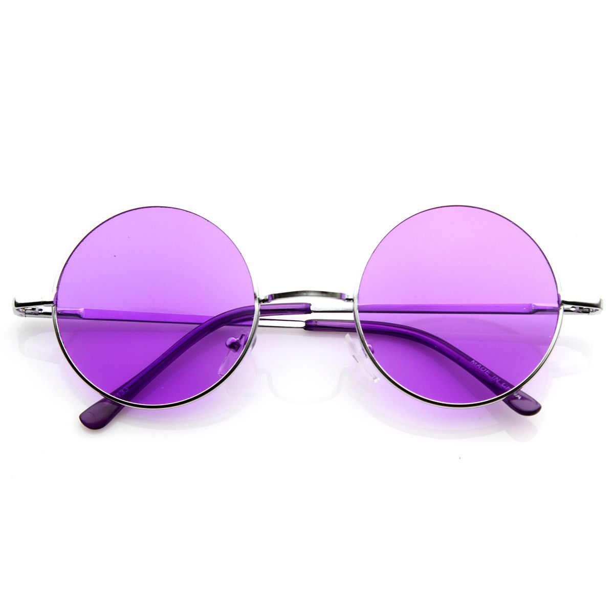 bc097d4b12 Lennon Style Round Circle Metal Sunglasses w  Color Lens Tint ...