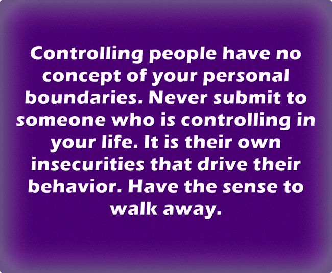 Traits of a controlling person