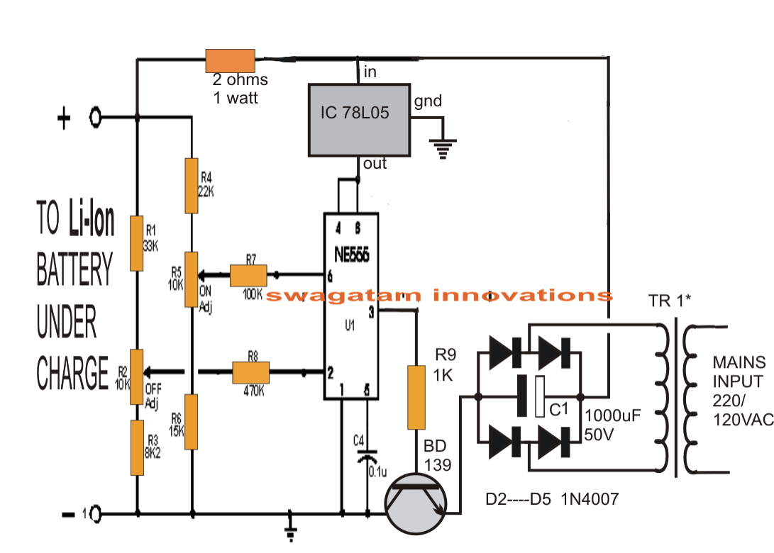 Li Ion Battery Charger Circuit Using Ic 555 Stuff Pinterest Wiring Schematic
