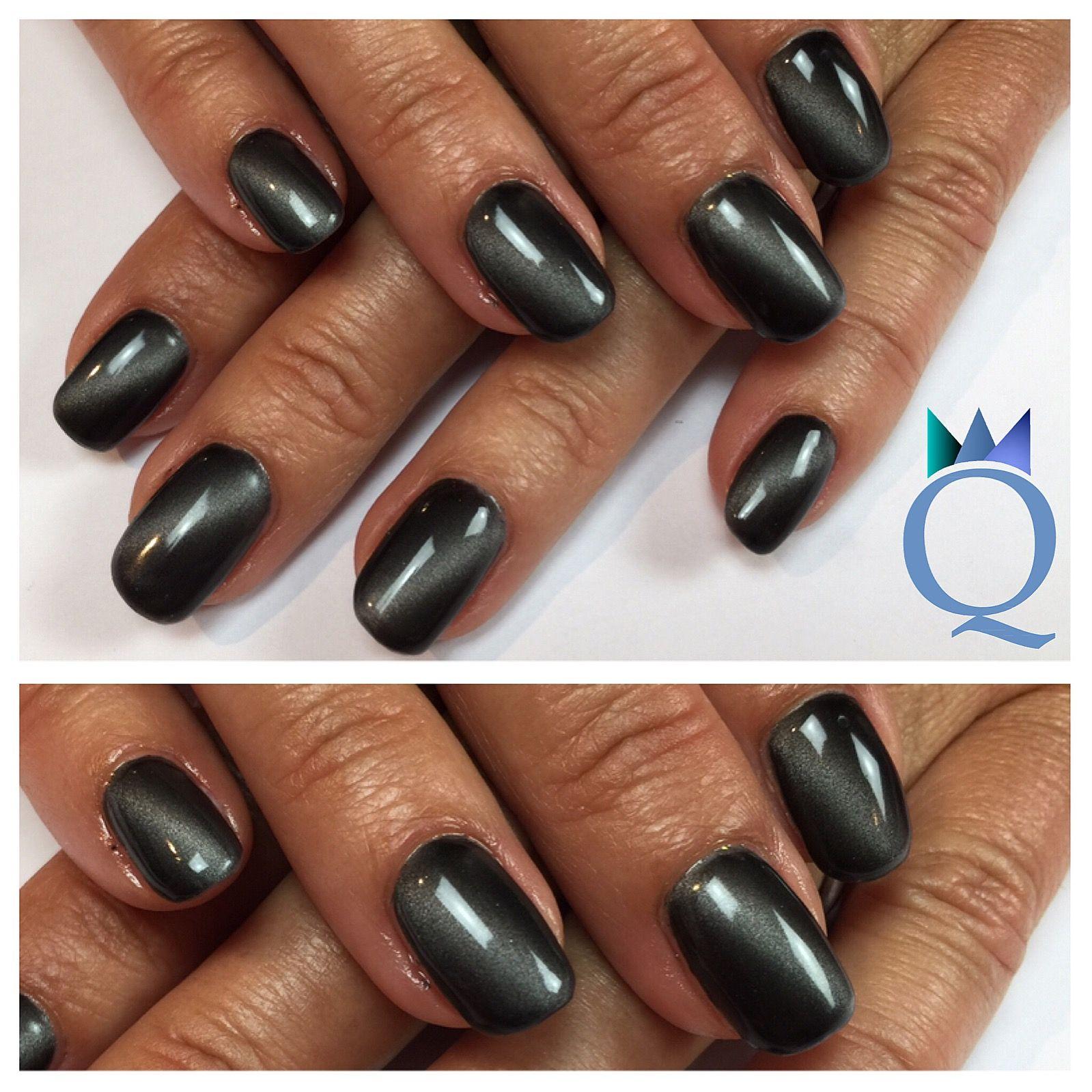 gelnails #nails #black #cateye #akyado #gelnägel #nägel #schwarz ...