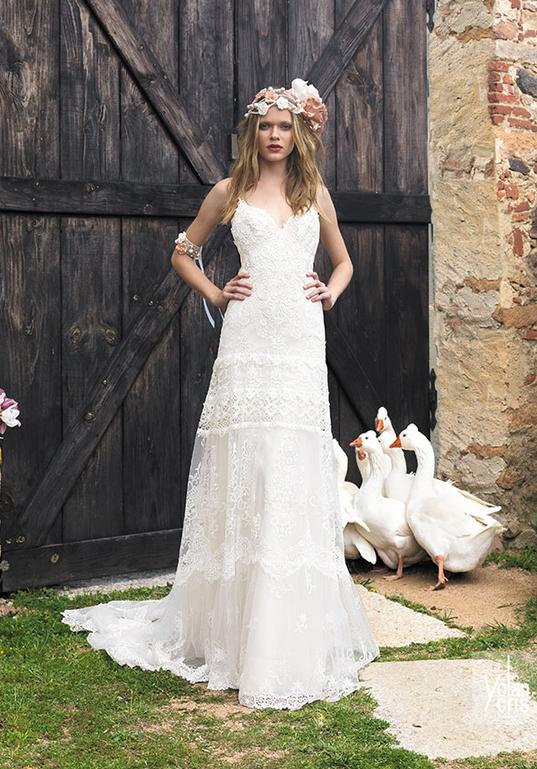 10 robes de mariée à adopter pour un look bohème,chic