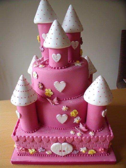 Pink 3 tier fairy castle