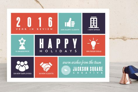 Box Infographics Business Holiday Cards By Heythird At Minted Com