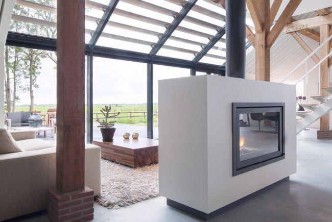 Open Haard Renoveren : Living. fire place. renovation monumental farmhouse. architecture
