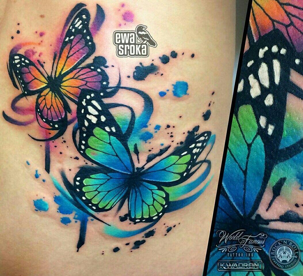 Butterflies By Ewa Sroka Tattoo Watercolor