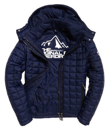 Hooded Box Quilt Fuji Jacket Men Jackets Winter Jackets Men