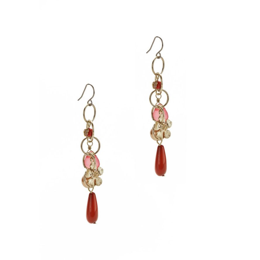 Relic Overlay Crystal Earrings