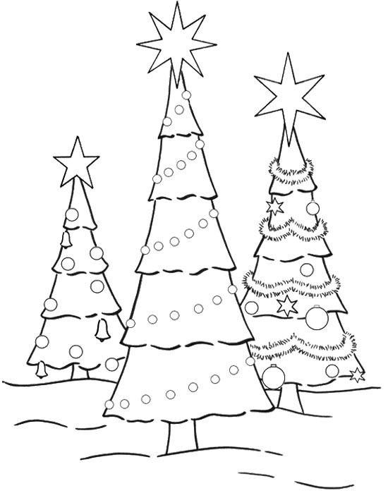 Three Christmas Tree Coloring Page Christmas Coloring Pages Christmas Tree Coloring Page Colorful Christmas Tree