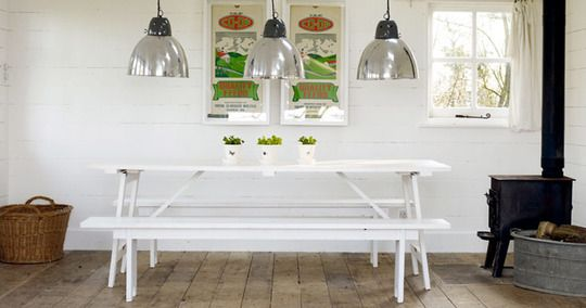 Summertime Style: Picnic Tables...Indoors   Picnic tables, Picnics ...