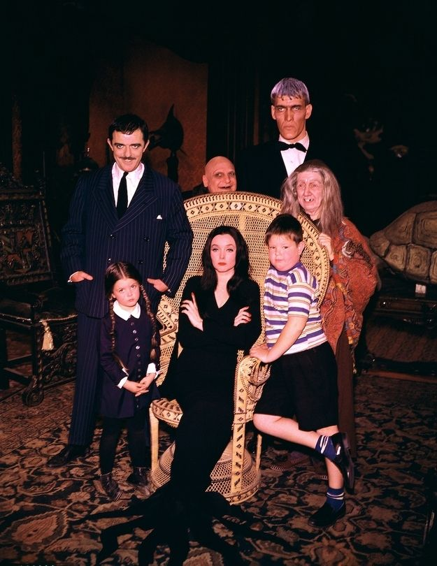 These Color Photos Of The Original Addams Family Cast Will