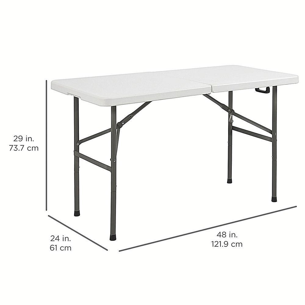 Plastic Portable Indoor Outdoor Folding Camping Picnic Bbq Dining Table 4 Foot Dealstoday Folding Table Table Round Folding Table