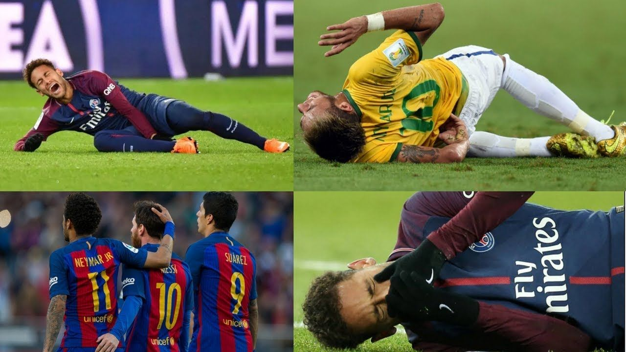 Unlucky Neymar World Cup Injury Champions League Injury Leaving Ba Neymar Champions League World Cup
