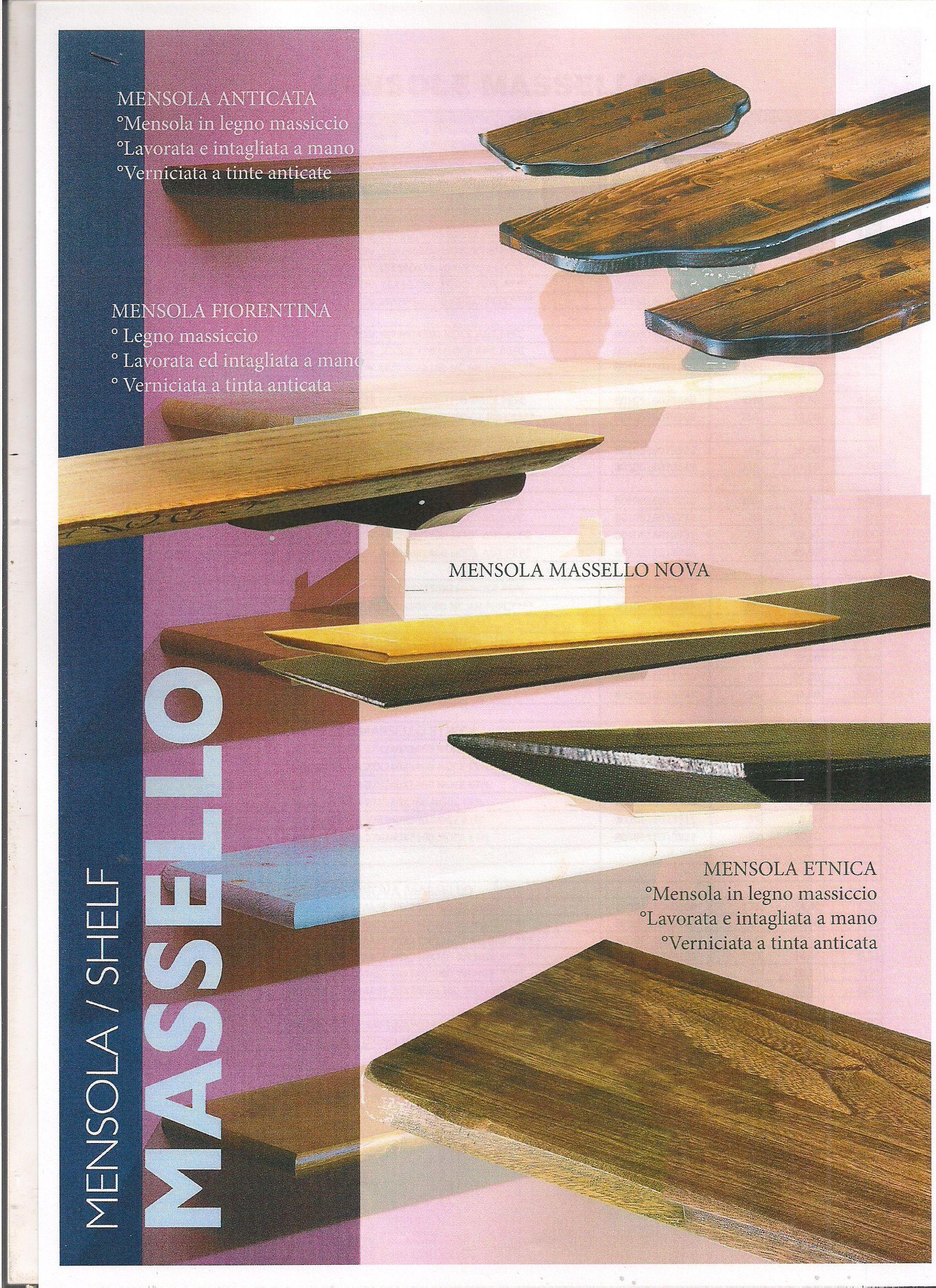Mensole In Legno Arrotondate.Mensola In Legno Massiccio Anticata Mensola Etnica Mensole E