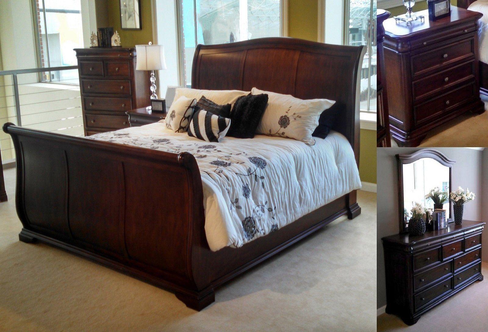 Newport solid mahogany wood queen bedroom set u classic traditions