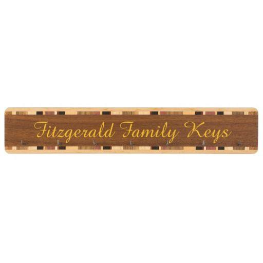 Family Key Rack by Janz Custom Sapele Walnut
