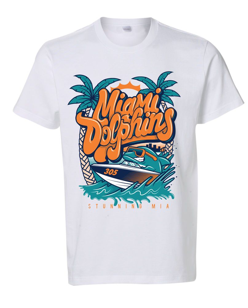 Miami Dolphins T shirt by Stunning MIA Apparel | Men's Fashion