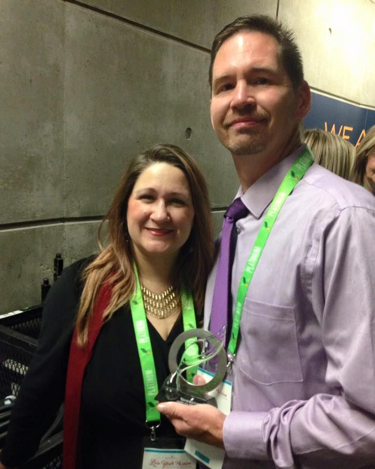 Danielle and Joey Jackson Oil in the Family receiving Platimum Leader award at Young Living convention 2016. Check out oilinthefamily.net for our blog.