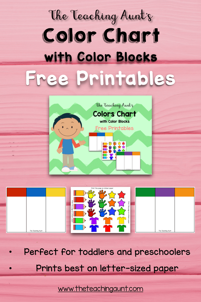 Color Charts For Toddlers And Preschoolers Free Printable