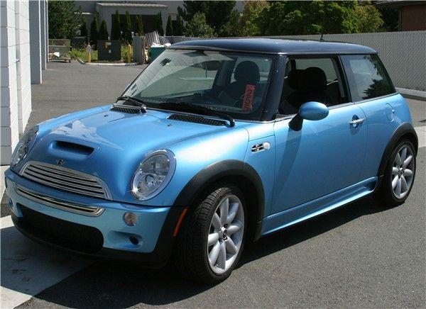 Electric Blue W Black Roof Mini Cooper Forum