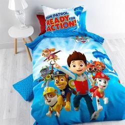 PawPatrol Parure de lit pour Enfant avec Housse de Couette 140 x 200 cm 100/% Coton