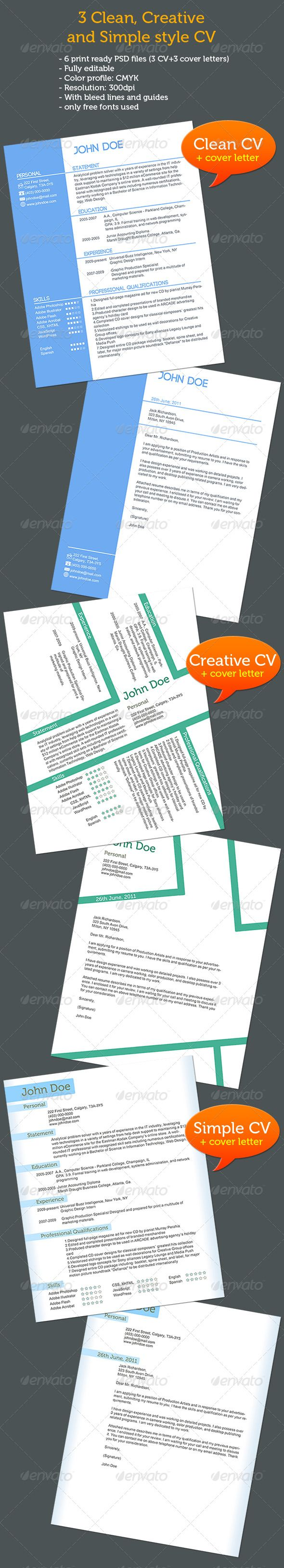 CvCover Letters  Different Styles  Cv Cover Letter Resume Cv