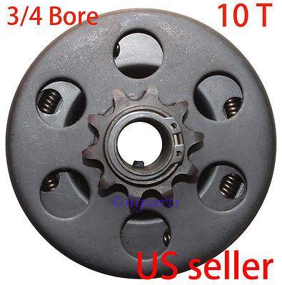 "Go Kart Engine Centrifugal Clutch 3//4/"" Bore 10 Tooth Predator 6.5 HP Mini Bike"