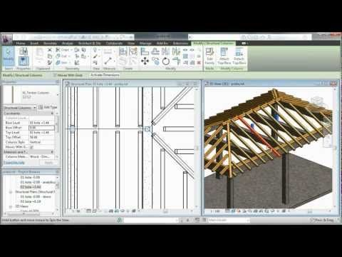 Autodesk Revit Wooden Roof Structure Youtube Roof Design Roof Structure Fibreglass Roof