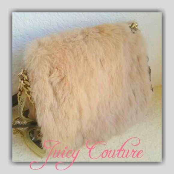 NWT JUICY COUTURE RABBIT HAIR/LEATHER PURSE A must bag for this season! This Juicy Couture bag will definitely add style to your winter outfit... Beautiful soft rabbit hair set on buttery soft leather... Gorgeous gold tone hardware with special bling... Very high quality materials... Comes with heart mirror... It is NWT... If any questions or measurements lmk :) Juicy Couture Bags