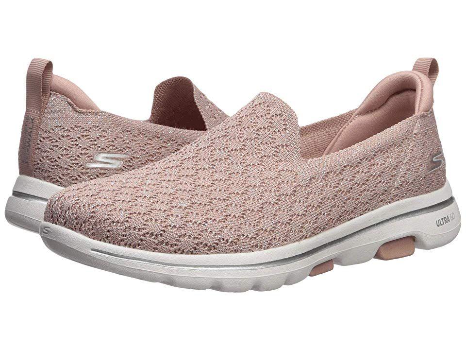 Skechers Performance Go Walk 5 Brave Women S Shoes Mauve