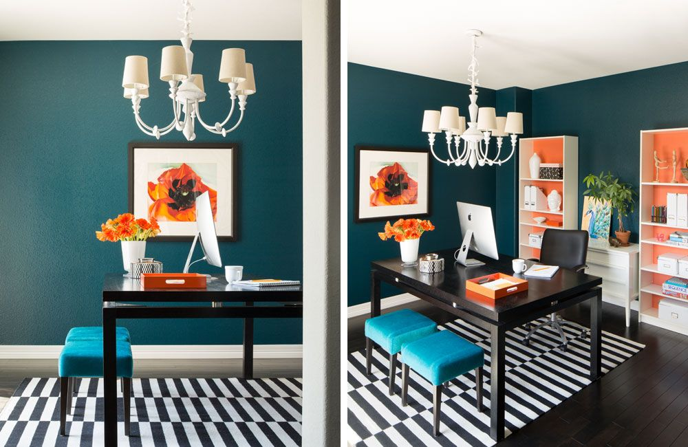 our favorite home office color combinations turquoise on blue office color id=81965
