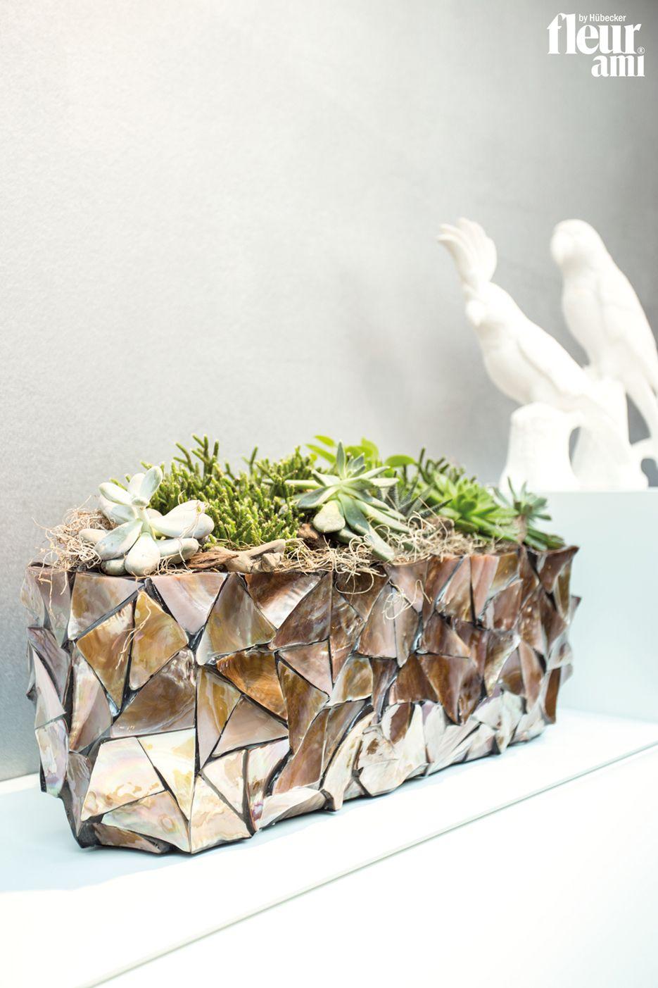 Shell Table Top Planter By Fleur Ami ○ Tischgefäß Von Fleur Ami